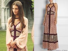 "In the episode 2x05 (""Blood for Blood"") Lady Kenna wears this Tamara Mellon Printed Silk-blend Maxi Dress"
