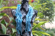 How to Make a No Sew Frilly T Shirt Scarf