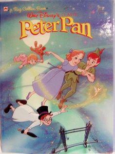 Vintage 1989 Walt Disneys Classic Peter Pan Hardcover Big Golden Book via VintageTreasuresFound Vintage Disney Posters, Retro Disney, Vintage Cartoons, Vintage Comics, Cute Disney, Disney Art, Walt Disney Movies, Disney Movie Posters, Vintage Disneyland