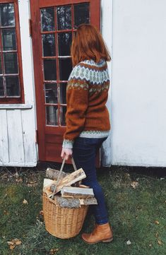 Icelandic Sweaters, Knitting Projects, Straw Bag, Knitwear, Collection, Inspired, Diy, Outdoor, Fashion