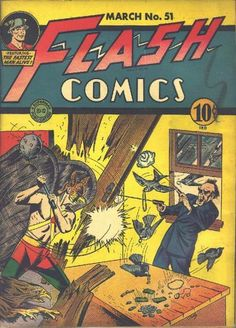 Flash Comics #51 Flash Comic Book, Dc Comic Books, Comic Book Covers, Comic Art, Flash Comics, Dc Comics, Superman Images, Johnny Thunders, Justice Society Of America