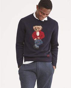 Preppy Boys, Sweater Outfits, Wool Sweaters, Men's Polo, Polo Ralph Lauren, Menswear, Bear, Mens Fashion, Casual
