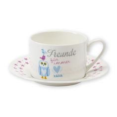 "Tasse + Unterteller ""Eule"" http://sheepworld.de/shop/my-beautytree/my-beautytree-Eule/Tasse-Unterteller-Eule.html?listtype=search&searchparam=eule"