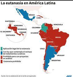 La eutanasia en América Latina, vía AFP School Goals, Ap Spanish, Gumball, Learning, Medicine, Latin America, Death, Parts Of The Mass, Cute