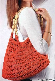 Broomstick Lace Crochet Bag