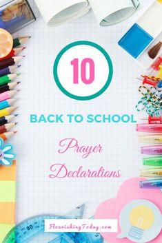 10 Back to School Prayer Declarations