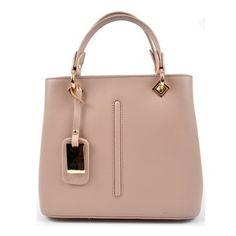 3806a4d159 Růžová kožená kabelka do ruky Roberta M Lolly