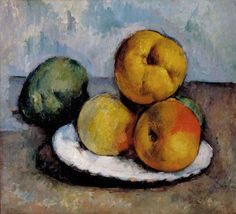 Improve Your Drawing by Using the Right-Brain Mode: Still Life with Quince, Apples, and Pears by Paul Cezanne c. 1885-1887, currently at the White House