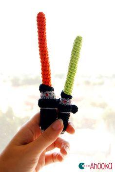Crochet Star Wars Lightsaber - Free Amigurumi Pattern