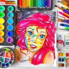 Disney Animated Movies, Disney Animation, The Little Mermaid, Universe, Drawings, Instagram, Art, Art Background, Kunst