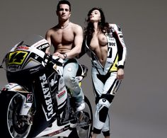 Randy de Puniet with his cool wife... Lauren Vickers.