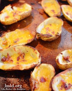 Do you need an appetizer idea? These potato skins are so good and are sure to be enjoyed by all! #appetizer #lmldfood