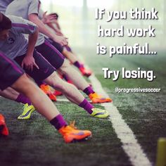 Do you hide from the pain of hard work yet claim you want to win? Do you shy away from fitness skip out on workouts and constantly give up early? Winning doesn't happen on game day. Soccer Player Quotes, Soccer Memes, Football Quotes, Soccer Drills, Soccer Tips, Play Soccer, Soccer Players, Soccer Cleats, Soccer Ball