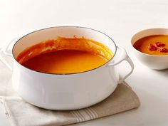 Roasted Tomato Soup recipe from Tyler Florence via Food Network