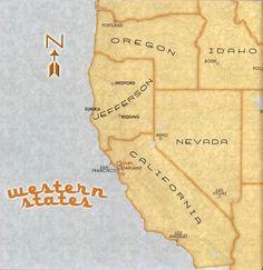state of jefferson, sure wish this existed! Nevada California, Reno Nevada, Northern California, American Catholic, Imaginary Maps, Hey Man, Alternate History, Cartography, Oregon