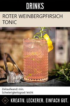Perfekter Longdrink für jeden Anlass! #weinbergpfirsich #tonic #drink #cocktail #cocktailrezept #cocktails Pillar Candles, Amazing, Creative, Taper Candles, Candles