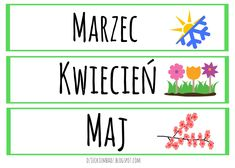 Jak nauczyć dziecko dni tygodnia i miesięcy? Wiersze o dniach tygodnia, wiersze o miesiącach, cechy pór roku. 1 Logo, Kids Education, Montessori, Diy And Crafts, Kindergarten, Playing Cards, Teaching, How To Plan, Google