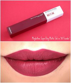 Up Collection Maybelline My Lipstick Colors and Travel Kits Maybelline Superstay, Maybelline Matte Ink, Maquillage On Fleek, Maybelline Products, Lipstick Swatches, Lipstick Shades, Lipstick Colors, Liquid Lipstick, Makeup Products