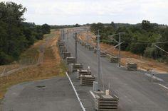 Aanleg spoorlijn bij St Catherine de Fierbois 2015 France Loiregebied