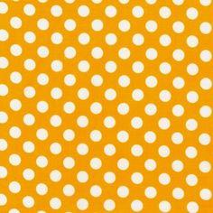 Robert Kaufman House Designer - Spot On - Medium Spots in Yellow