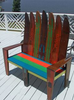 Lakeside Seating Water Ski Decor, Lake Decor, Chair Bench, Lake Life,  Vintage