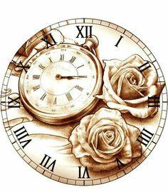 Rosen und Uhr
