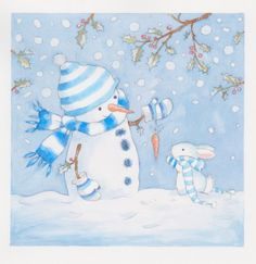 Annabel Spenceley - Snowman And Bunny