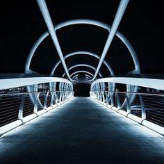 The Yards Bridge at Night in DC