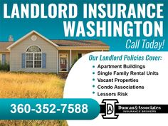 If you are a landlord did you know there are three different coverage forms you can purchase? Which form is best for you? We can help you choose. Call or visit our website to learn more. www.duncanins.com/apartment-building-insurance-washington-state/landlord-insurance-washington-state/