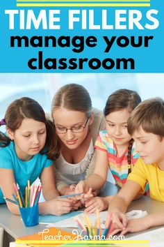 Time fillers to help manage your classroom. Improve student behavior and keep them engaged between lessons and during transition times. Click on the pin to grab your free time filler resources. #classroombehavior #tpt #teacherkarma Resource Room Teacher, Teacher Blogs, Teacher Hacks, Teacher Binder, Creative Teaching, Teaching Tools, Teaching Resources, Teaching Ideas, Student Behavior