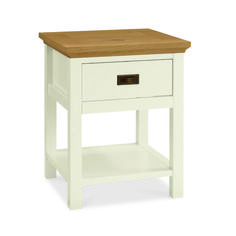 Rustic Two Tone Lamp Table With Drawer - £99 | brandinteriors.co.uk