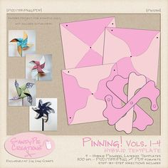 Pinwheels, Zig Zag, Free Printables, Scrapbooking, Paper Crafts, Gardening, Templates, Activities, Store