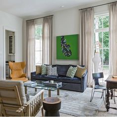 A modern family home in a traditional Baton Rouge neighborhood hits the mark - collected and curated. Residential Design, Home, Furnishings, Interior, Eclectic Modern, Living Spaces, Home And Family, Outdoor Furniture Sets, Modern Family