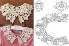 Diseños cuellos a crochet | Patrones crochet