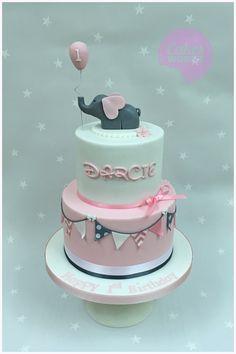Noahs ark 1st birthday cake Number 1 sponge cake and an ark made