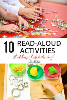 10 Delightful Read Aloud Activities Your Kids Will Love for Quiet Family Read Aloud Time. The read aloud activities keep kids listening so they will retain more of what you read. Read Aloud Books, Great Books To Read, Children's Books, Audio Books, Book Activities, Preschool Activities, Indoor Activities, Interactive Read Aloud, Best Children Books