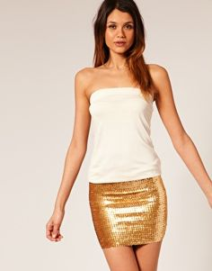 Simple plus sequins. A go-to clubbing outfit