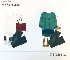 Don't care about the jeans, but love that teal and blue top! Looks like it would be great for a Florida Fall!