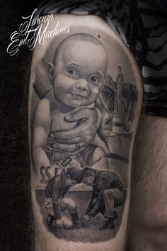 """Di Padre in Figlio"", Realistic Tattoo by Lorenzo Evil Machines, Roma - Italia"