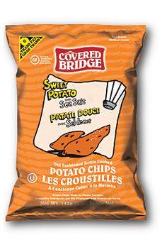 Sweet Potato & Sea Salt Sweet Potato Chips, Snack Recipes, Snacks, Covered Bridges, Tortilla Chips, New Product, My Photos, Potatoes, Sea Salt