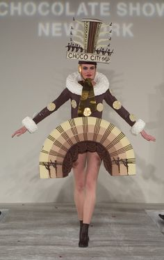 Dress made out of chocolate from the New York Chocolate Show