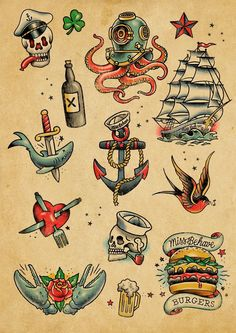 Miss Behave Bar – Brand Design — Tobias Green , ideen bunt Miss Behave Bar – Brand Design — Tobias Green - Tattoos Pictures Retro Tattoos, Tattoos 3d, Navy Tattoos, Sleeve Tattoos, Green Tattoos, Tattoo Ink, Arm Tattoo, Traditional Tattoo Old School, Traditional Tattoo Design