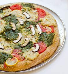 Pesto Cashew Ricotta Pizza from Healthy Happy Life. Looks like we'll be heading to the grocery store after work!