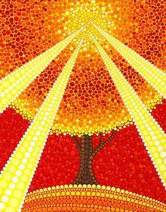Dedos de Dios la ilumina árbol de Elspeth McLean