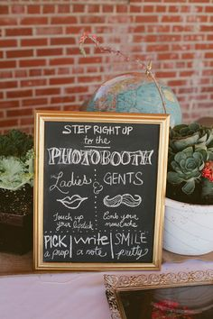 photobooth signage // photo by Shari + Mike Photographers check out dat deco Wedding Set Up, Diy Wedding, Dream Wedding, Wedding Ideas, Event Signage, Wedding Signage, Party Planning, Wedding Planning, Photo Booth Backdrop