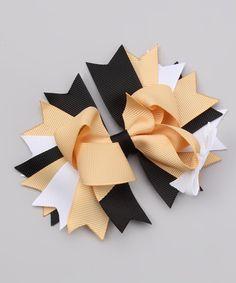 Tan  Black Uniform Bow Clip $7.99