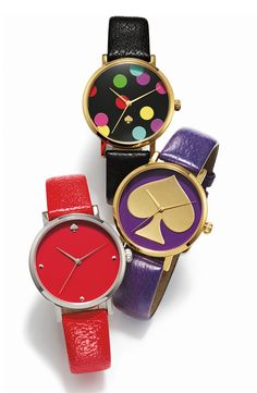 For Her: kate spade new york 'metro' patterned dial watch #Nordstrom #Holiday