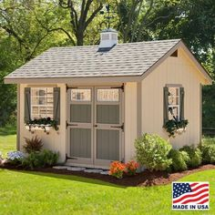 EZ Fit 10 X 12 Heritage Wood Storage Shed Kit With Floor, Storage Sheds, Alpine Structures, Shed Country - storagesheds