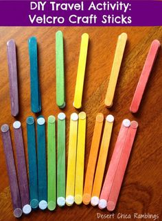 travel activities for toddlers - These would be fun to stick to a felt board to build shapes like a house