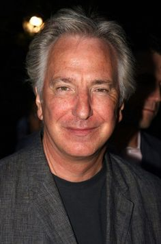 """August 2008 -- Alan Rickman poses at the Opening Night arrivals for """"Hair"""" at Shakespeare in the Park at the Delacorte Theater in Central Park in New York City. (Photo by Bruce Glikas/FilmMagic) Alan Rickman Movies, Shakespeare In The Park, Alan Rickman Severus Snape, Severus Rogue, Agent Of Change, Piece Of Music, Falling In Love With Him, Celebrity Photos, Celebrity Couples"""